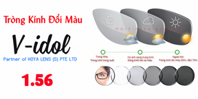 Tròng Kính Đổi Màu Singapore V-idol SunPlus 156