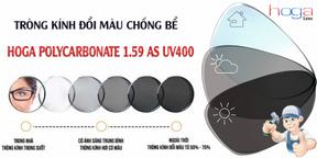 Tròng Kính Đổi Màu Chống Bể HOGA 1.59 Polycarbonate