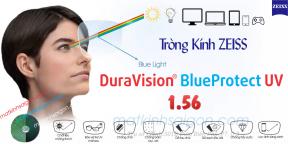 TRÒNG KÍNH LỌC ÁNH SÁNG XANH 1.56 ZEISS DuraVision BlueProtect UV